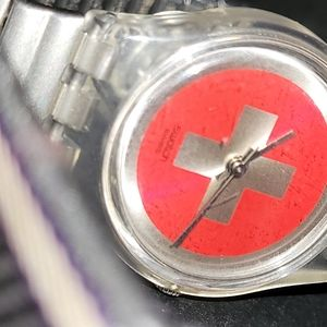 vintage red swatch watch